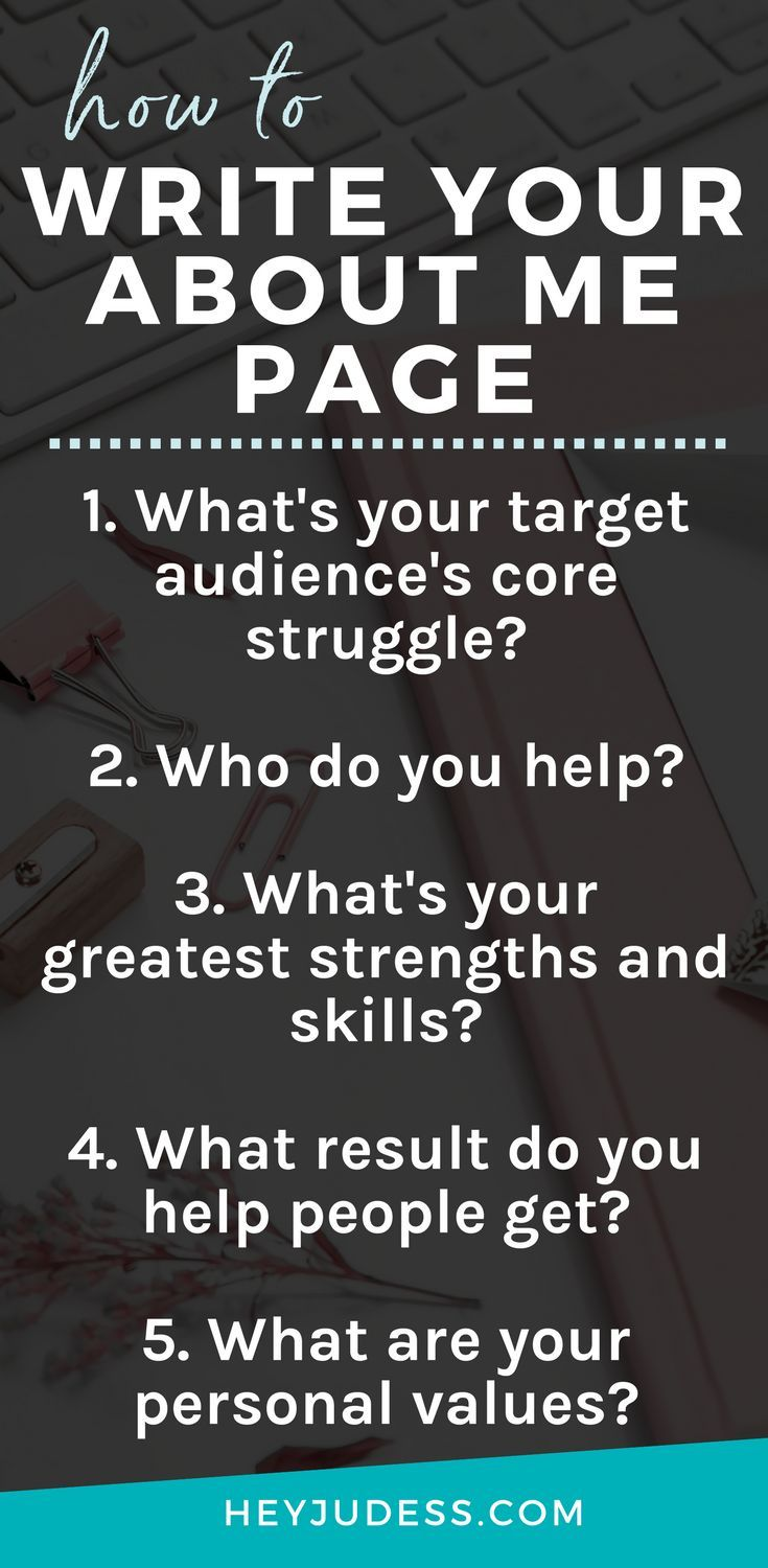 What To Write in Your About Me Page For Your Blog  Heyjudess.com