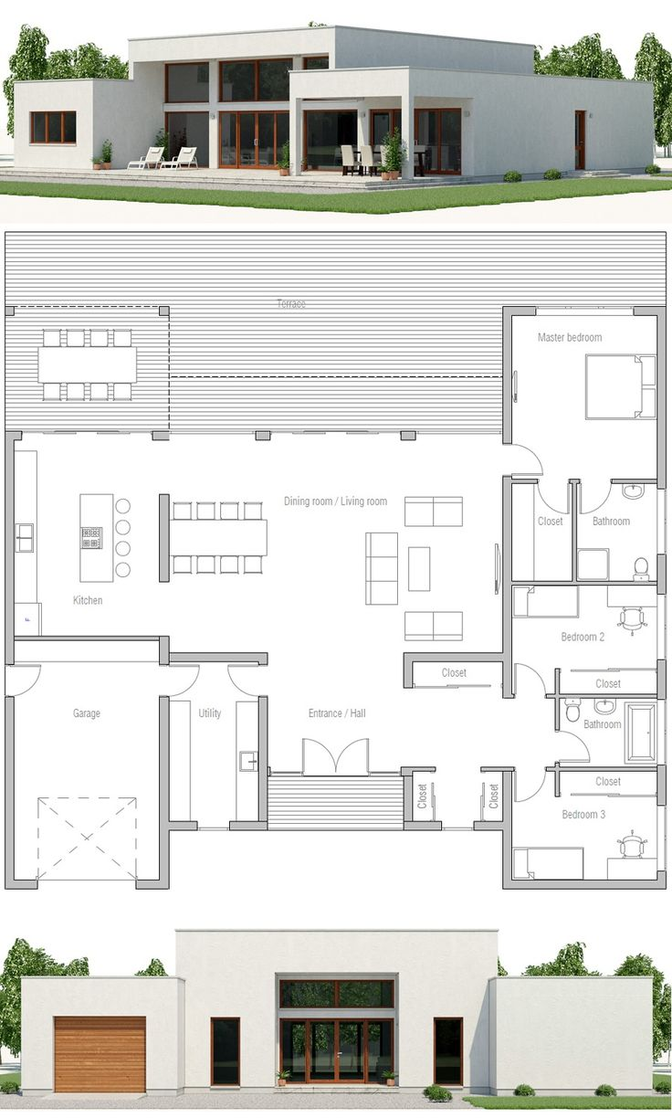 Modern House Plan, Minimalist House Design, Archit…