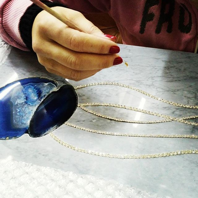 #agate #semiprecious #jellyfish #difrosciamarmi #campobasso #handmade #moscow #russian #project #wallcovering #marbledecoration #bardiglio #swarovski #luxurymarble