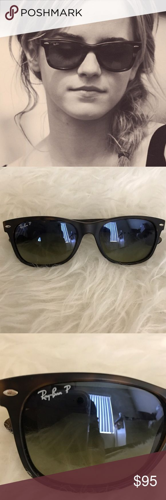 Ray Bans New Wayfarer Ray Bans Polarized (cheetah print). Perfect condition, I just never wear sunglasses anymore Ray-Ban Accessories Sunglasses