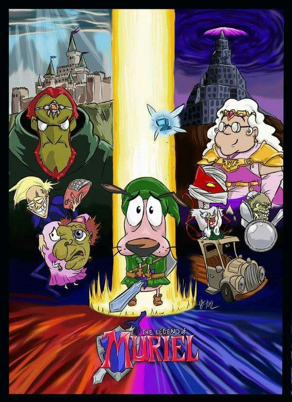 Crossover Legend Of Zelda Courage The Cowardly Dog Cartoons