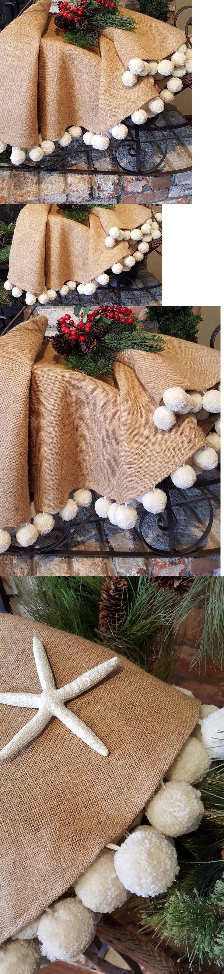 Tree Stands Skirts and Storage 166726: Coastal Style, Farmhouse Christmas , Deluxe Pom Pom Christmas Tree Skirt -> BUY IT NOW ONLY: $155 on eBay!