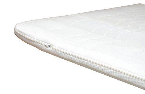 h2 topper matratzenauflage 90x200 kaltschaum mit bezug versteppt 7cm