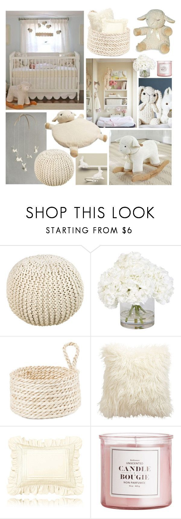 """Bunnies & Sheep Nursery"" by hellobrit ❤ liked on Polyvore featuring interior, interiors, interior design, home, home decor, interior decorating, Surya, Ethan Allen, Zara Home and Thos. Baker"