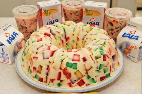 gelatina mosaico de piña