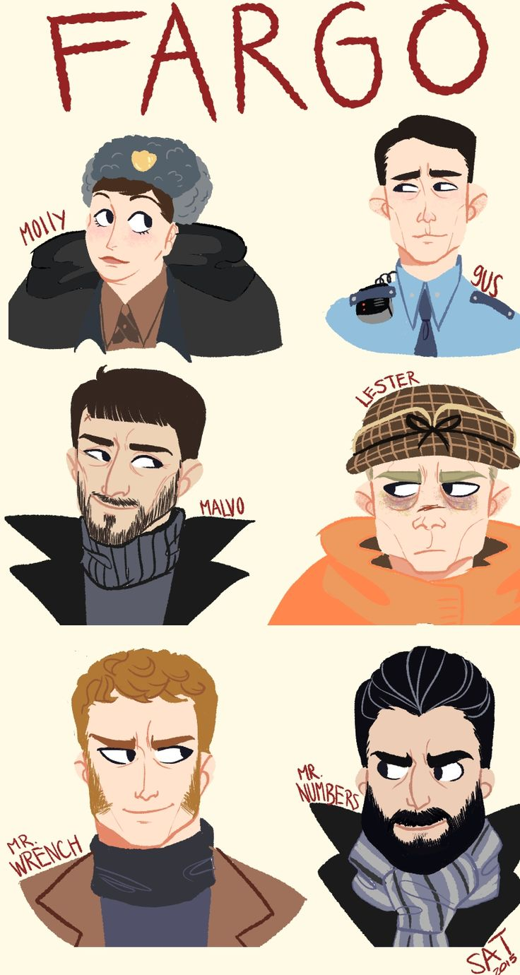 """goblin-kid: """" in honor of finding my tablet cord and finishing season 1 of fargo (my new favorite show) i drew some of my favorite characters! """""""