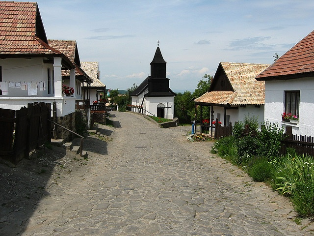 Hollókő (Hungary). 'It may only consist of two streets, but Hollókő is the most beautiful of Hungary's villages. Its 60 whitewashed houses, little changed since their construction in the 17th and 18th centuries, are pure examples of traditional folk architecture.' http://www.lonelyplanet.com/hungary