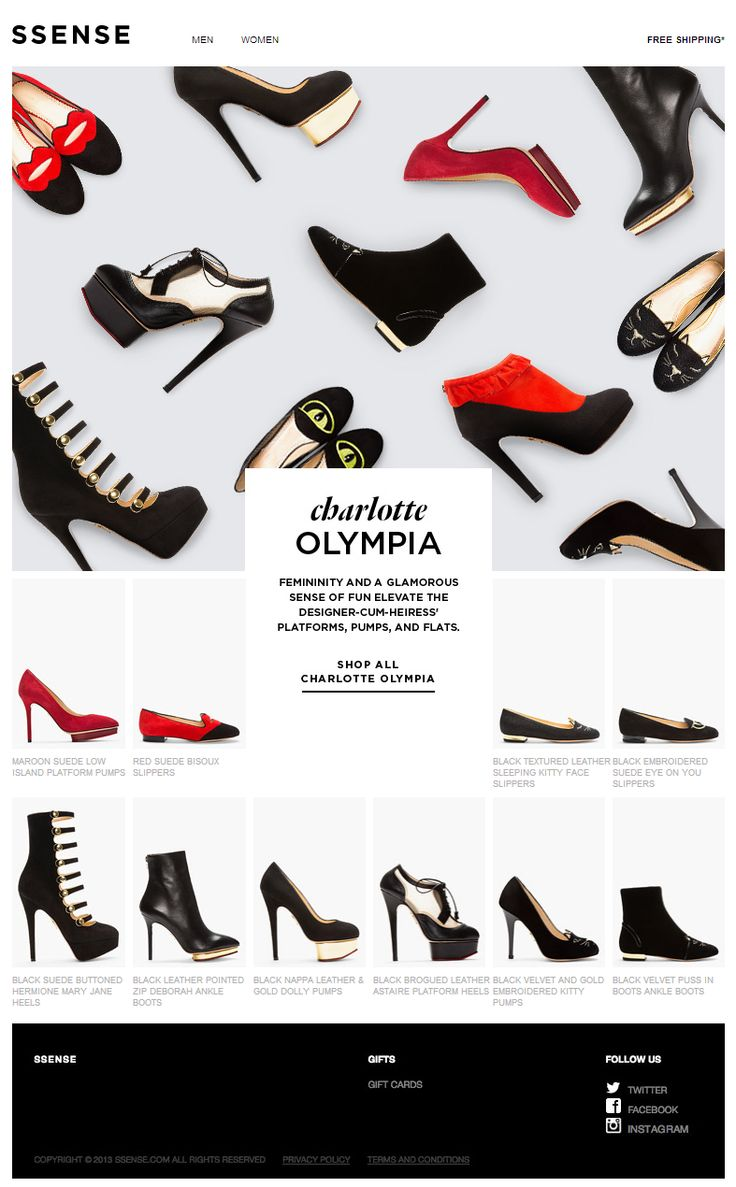 Cheer, chic, and shoes from Charlotte Olympia | Awesome Screenshot
