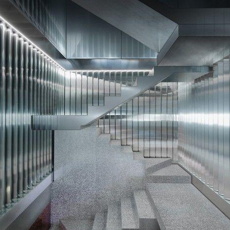 OMA uses coloured mirrors and aluminium foam for Repossi Vendôme store interior.