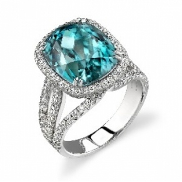 rings diamond and blue ring flat custom engagement zircon