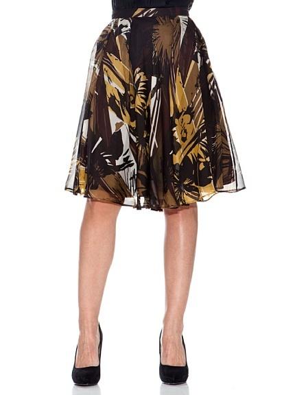 Caramelo Falda Estampada en Amazon BuyVIP