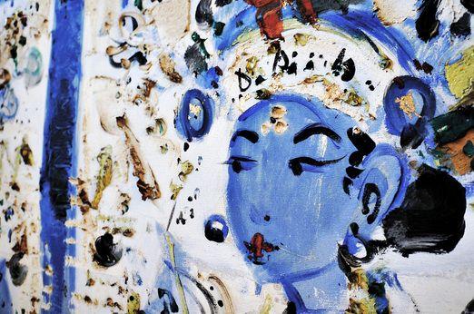 Amazing details can be seen in Nyoman Gunarsa's paintings. Photo by Raditya Margi.