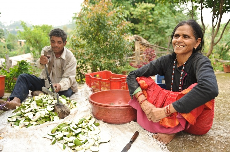Harikala makes green mango pickles. Thanks to Mercy Corps, she received a loan to purchase spices, oils, tools and containers. She repaid that loan and took out a second one to expand her business.