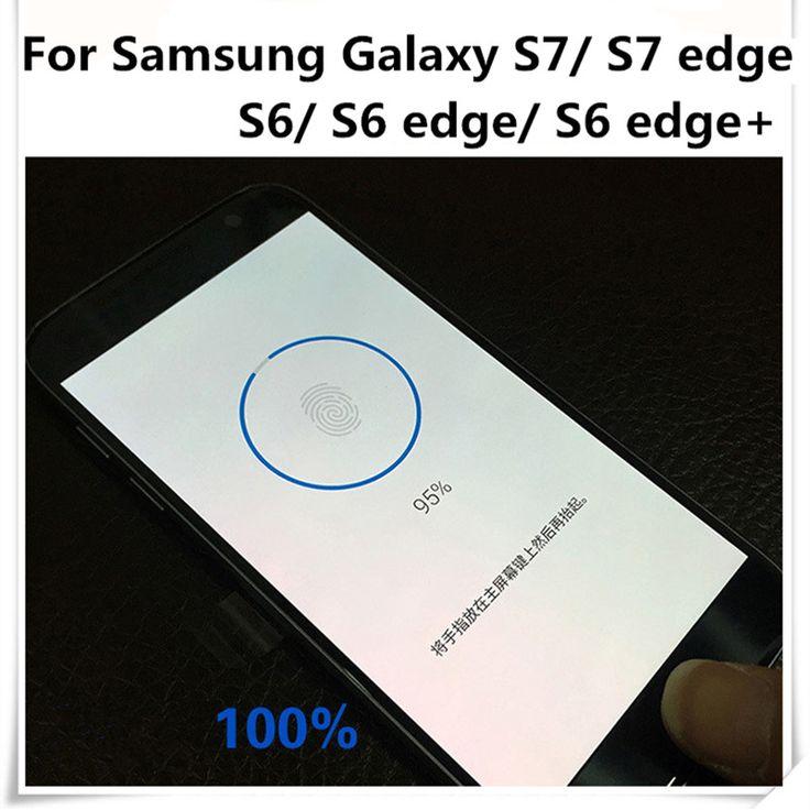 D'empreintes digitales Accueil bouton autocollant Pour Samsung Galaxy S7/S7edge/S6/S6edge/S6 bord + transparent identifier les empreintes digitales protection film