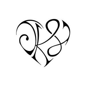 heart from initials