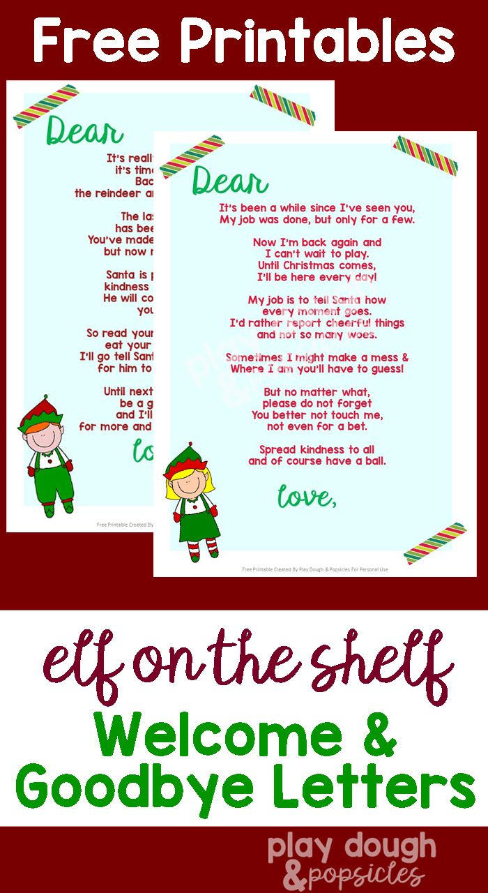 It is a photo of Clever Free Printable Elf on the Shelf Letter