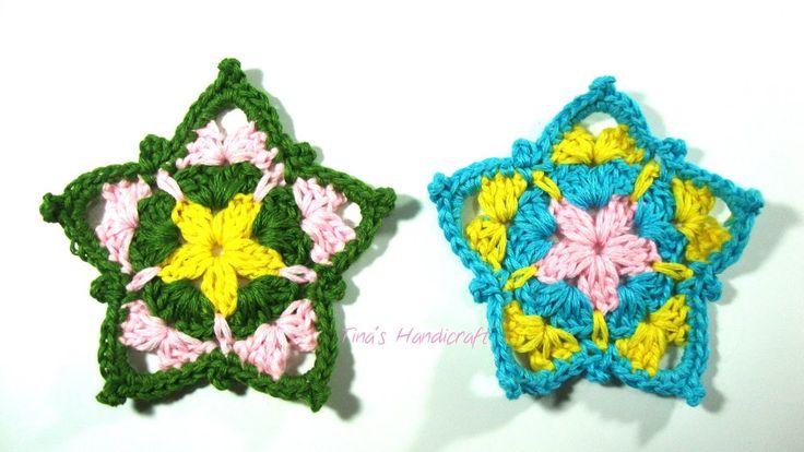 crochet stars colorful