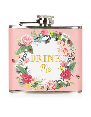 Festival 'Drink Me' Hip Flask | Pink | Accessorize