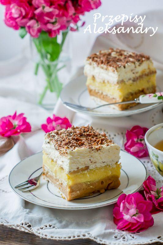 Przepisy Aleksandry: CIASTO 3 BIT (bez pieczenia)/ 3 BIT is a no-bake cake from Poland.