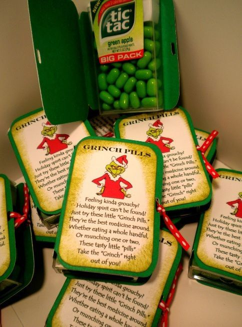 Grinch pills for kids stockings.  :)