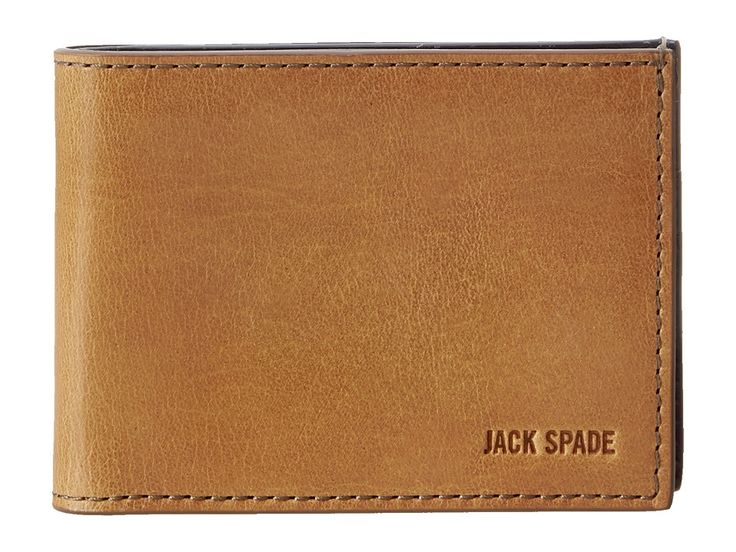JACK SPADE JACK SPADE - MITCHELL LEATHER INDEX WALLET (SADDLE/NAVY) BILL-FOLD WALLET. #jackspade #
