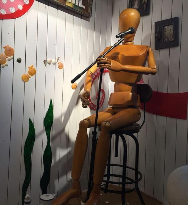 wholesale European simulation of the body of solid wood male model, bar stage show can wear clothes adjustable-mannequin 1PCB638