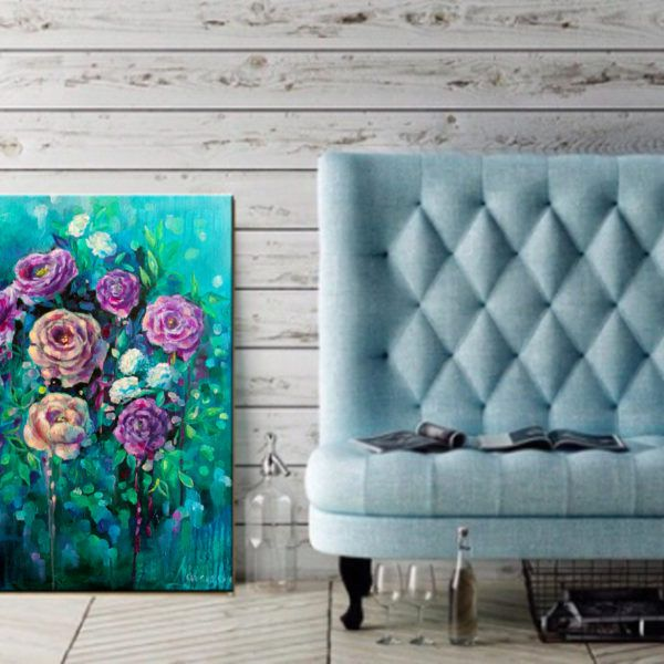 Peonies painting, all what you ever wanted