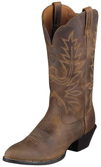 Ariat Women's Heritage Western R Toe Cowboy Boots - Distressed Brown $149.95