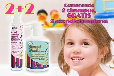 VALQUER Linea Capilar Infantil: Champu Infantil Extrasuave y Acondiconador Infantil Bifásico