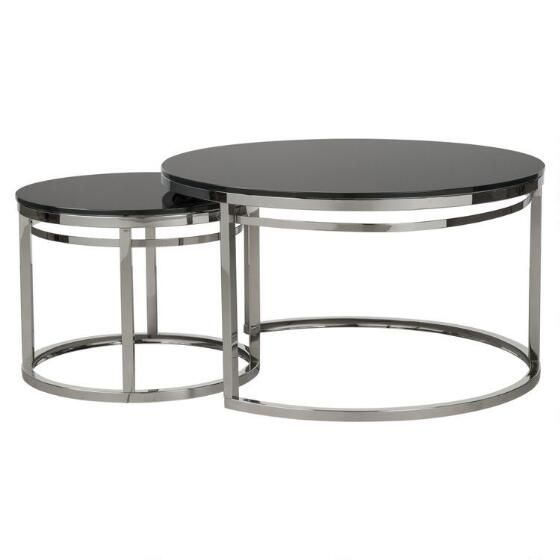 Liane Nesting Coffee Table -Glass - Urban Barn