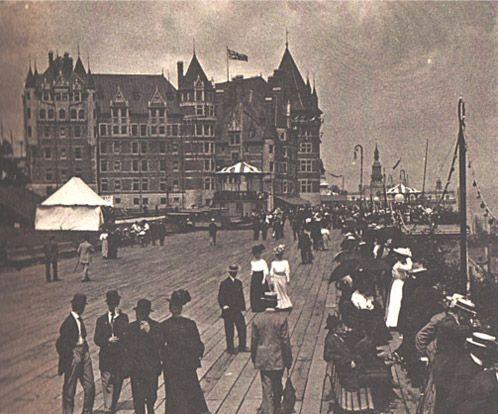 Château Frontenac et Terrasse Dufferin pour le 300e de Québec en Juillet 1908