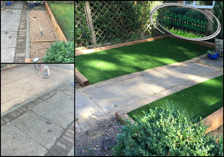Small front garden transformation using artificial grass to bring this garden to life