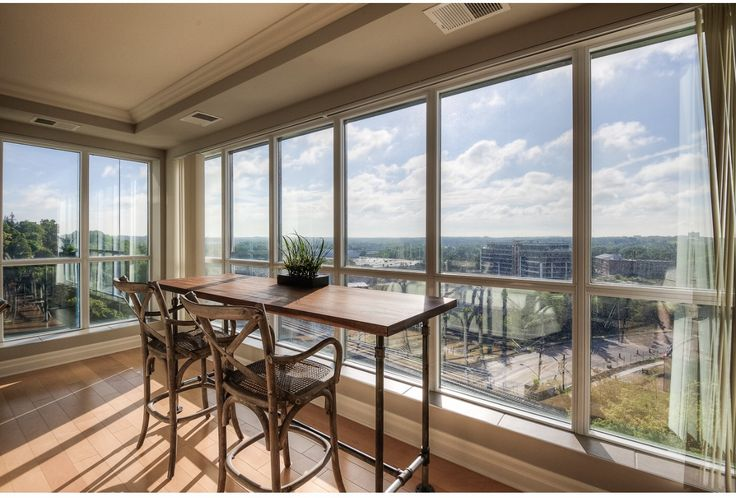 Dining space with views. Open concept living space.