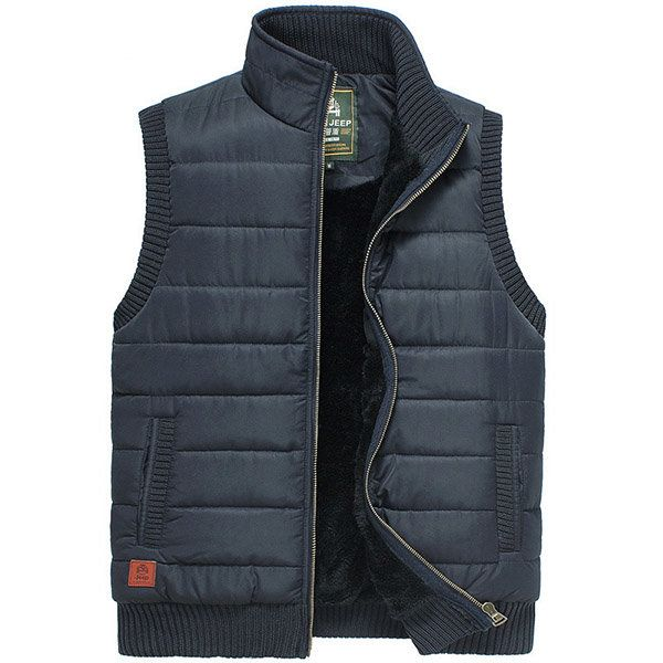 Mens Autumn Winter Stand Collar Warm Thick Outdoor Vest Casual Waistcoat Three Colors at Banggood sold out