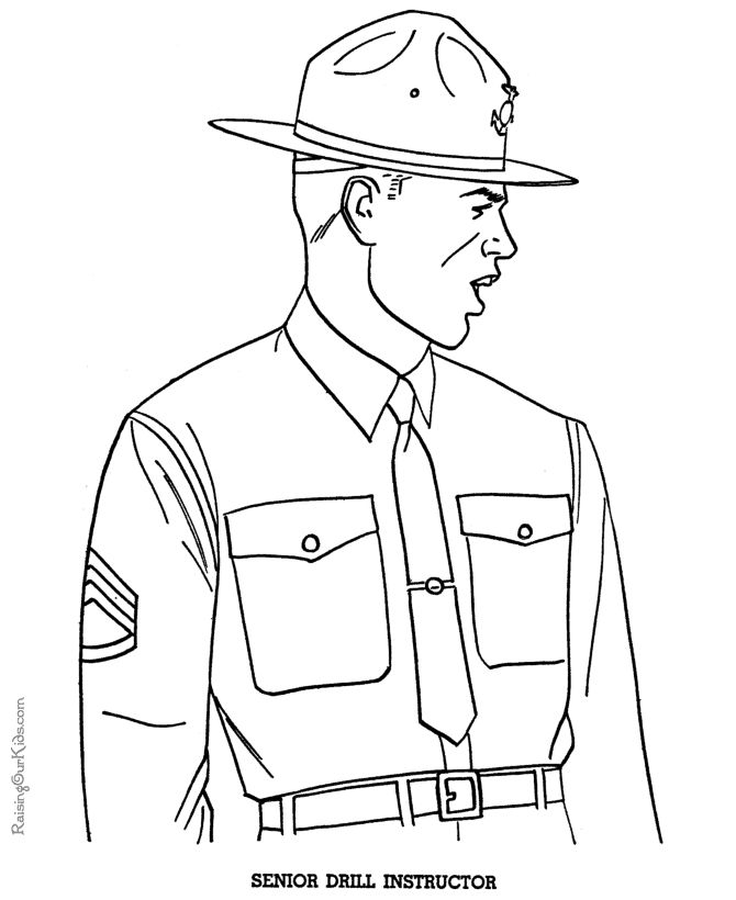 armed forces day coloring pages