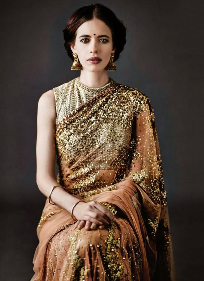 #Sabyasachi #Kalki Koechlin!! Isn't absolutely Royal Creation by the most acclaimed designer Sabyasachi. To view his store details, visit http://www.myweddingbazaar.com/about_companys.php?id=10&&tpages=4&page=1&vendor_type=Designer+Collection