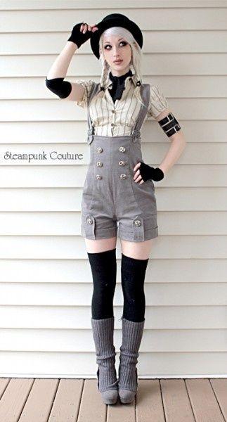 Steampunk Couture  #steampunk... Pretty cute!