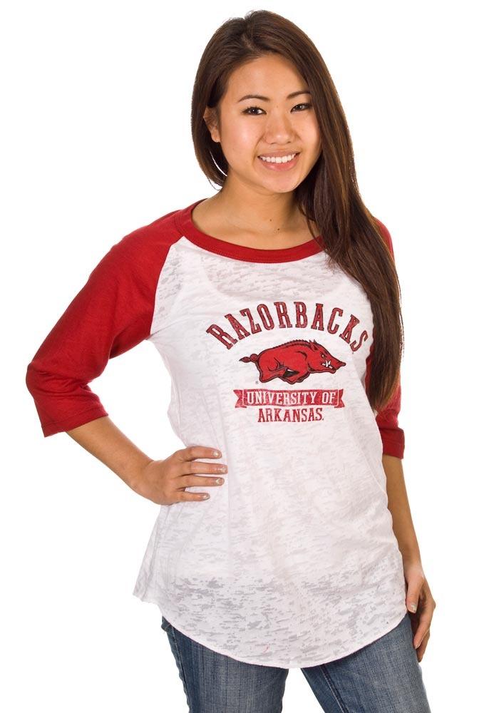 Arkansas Razorbacks White Boyfriend Baseball T-Shirt http://www.rallyhouse.com/shop/arkansas-razorbacks-arkansas-razorbacks-jr-white-boyfriend-baseball-tshirt-5702431?utm_source=pinterest&utm_medium=social&utm_campaign=Pinterest-ArkansasRazorbacks $29.95