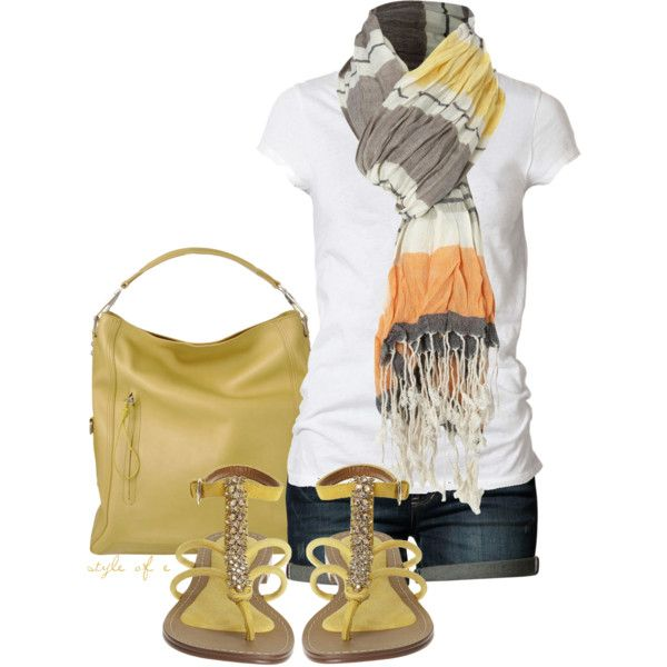 Yellow Summer, created by styleofe on Polyvore