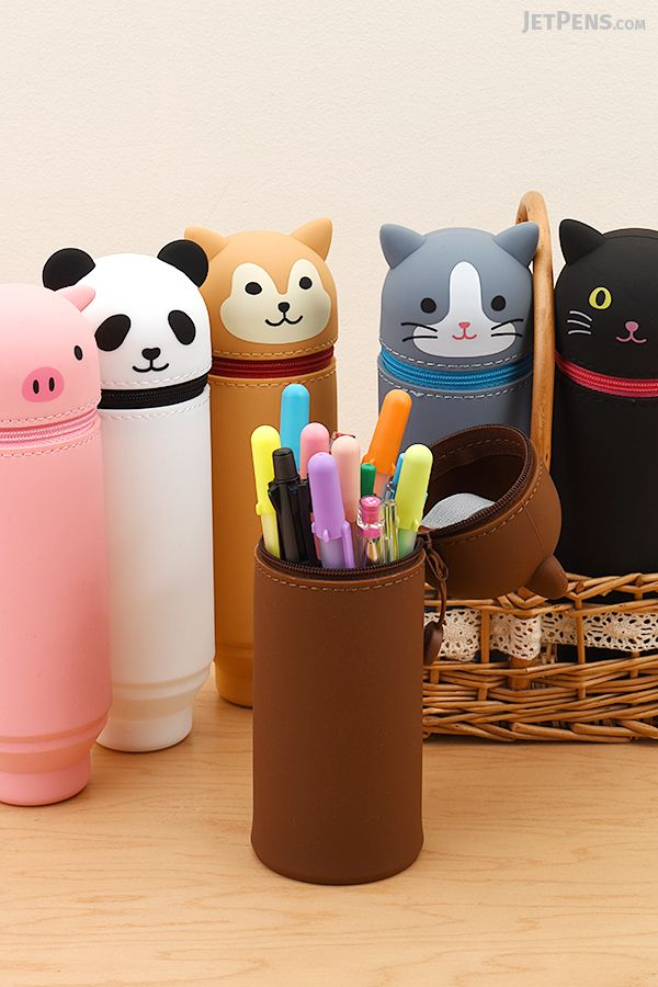 Store your favorite pens inside adorable Lihit Lab PuniLabo Pen Cases, which come in Panda, Cat, Pig, and other animal friends.