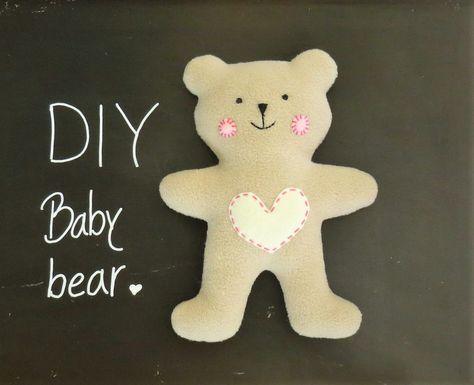 DIY teddy bear free pattern and tutorial
