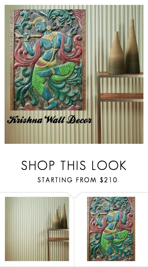 Krishna Wall Decor by baydeals on Polyvore featuring interior, interiors, interior design, home, home decor, interior decorating, Fasade, wallart, walldecor and wallhanging  http://stores.ebay.com/mogulgallery/CARVED-DOORS-/_i.html?_fsub=353415319&_sid=3781319&_trksid=p4634.c0.m322
