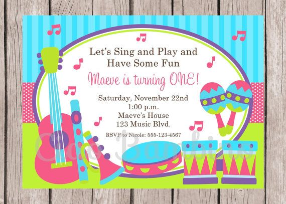 23 best mikees musical bday party images on pinterest music party music birthday party invitation you print pink by ciaobambino filmwisefo Images