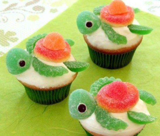 Squirt Turtle Cupcakes Tutorial