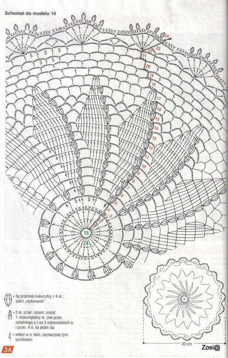 1415 best מפות ומפיות images on Pinterest | Crochet doilies ...