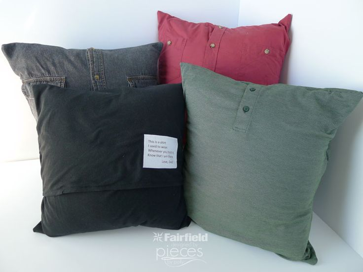 Easy instructions for turning a polo shirt into a memory pillow. Great gift for someone who has suffered the loss of a dad or grandpa.