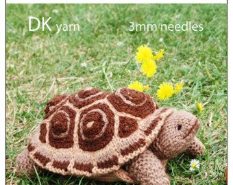 Knitting Pattern For Tortoise Jumper : tortoise turtle PDF email toy knitting pattern - USD3.99 Fun to make toys P...