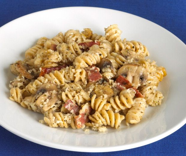 Simple Cooking with Heart Bacon Mushroom Mac and Cheese