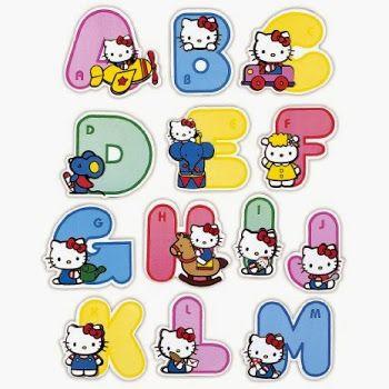 Alfabeto de Hello Kitty de Colores.                                                                                                                                                                                 Más