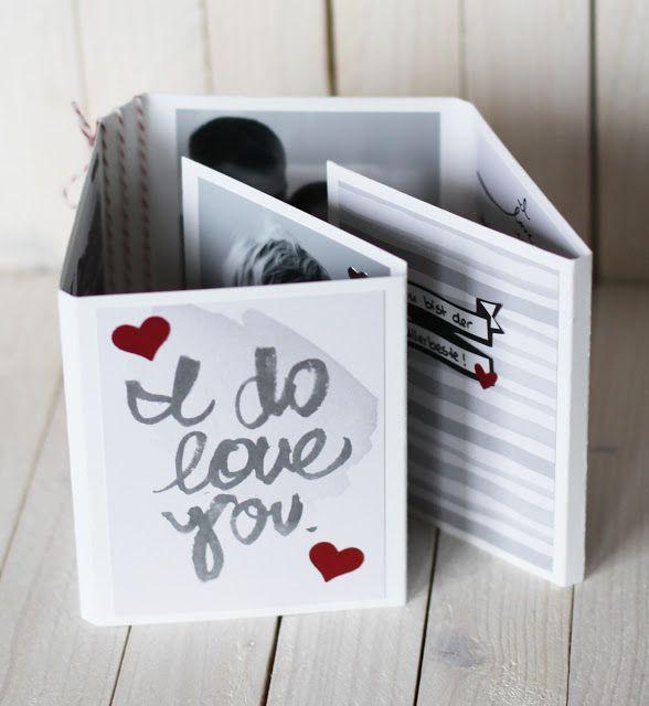 { Conibaers creative desk } Constanzes kreatives Blog: Valentins Fold out Minialbum